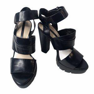 Zara Women Black Chunky Platform Heels